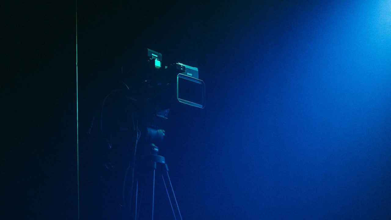 We make videos and this is a camera on sticks with blue light